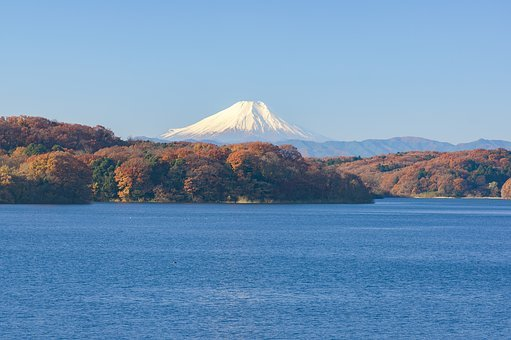 Mt Fuji, Japan, Landscape, Natural, Blue Sky