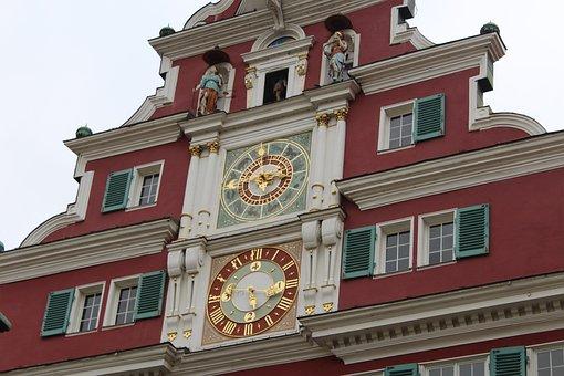 Germany, Clock, Esslingen, Esslingen Am Neckar