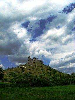 Boldogkő, Zempéni Hg, Castle, Cloud, Mountains