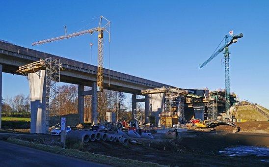 Highway Construction Site, Valley Bridge, Crash