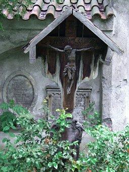 Wooden Cross, Crucifix, Füssen, Allgäu, Old Cemetery