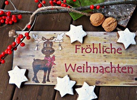 Merry Christmas, Desire, Christmas, Decoration, Cookie