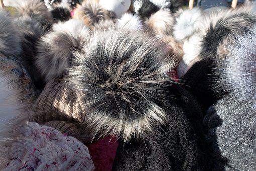 Fur, Cap, Fur Pompom, Bobcap, Offer, Many, Sale