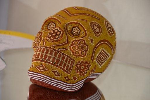 Huichol Skull, Chaquira, Huichol Crafts