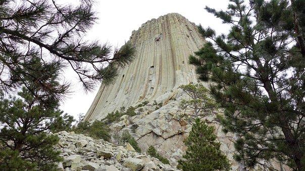 Devils Tower, National Park, America, Rock, Grooves