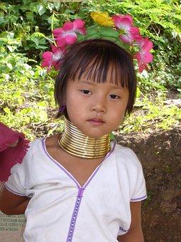 Kayan Lahwi Girl, Girl, Kayan People, Burma, Padaung