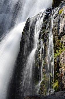 Water, Waterfall, Stream, Falls, Scenery, Wyoming