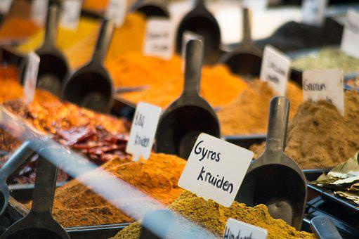 Spices, Flavors, Middle East, Turmeric, Saffron, Dust