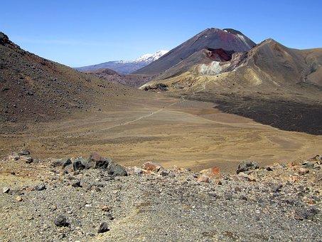 New Zealand, Tongariro Crossing, Mountains, Volcano