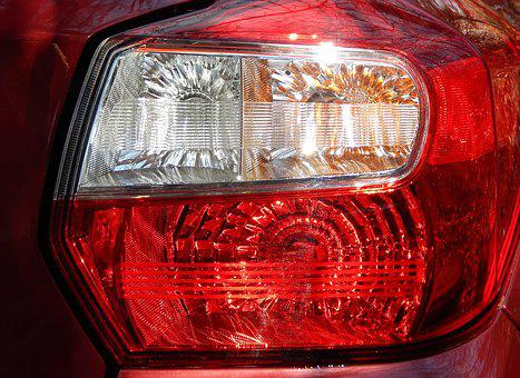 Taillight, Car, Automobile, Red, Yellow, White, Vehicle