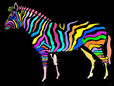Zebra, Animal Print, Zoo, Candy Striped