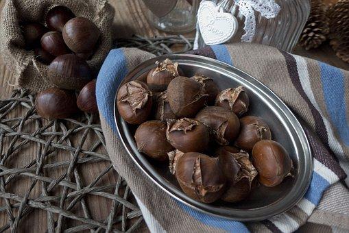 Autumn, Chestnuts, Castanea, Dining Table, Bag, Towel