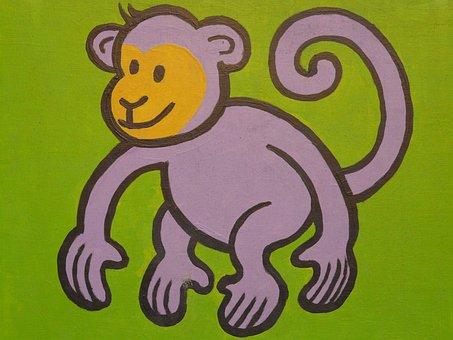 Monkey, Cartoon Character, Drawing, Funny, Image