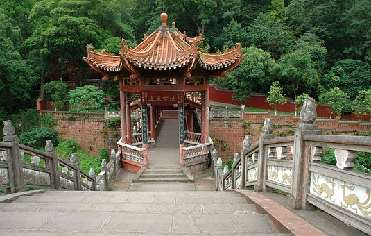 Bridge, Leshan, China, Architecture, Staircase