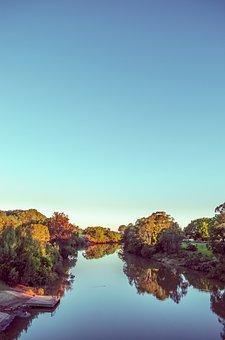 Creed, Dam, Trees, Autumn, City