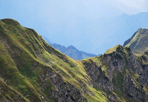 Mountains, Alpine, Fog, Sky, Allgäu, Germany, View