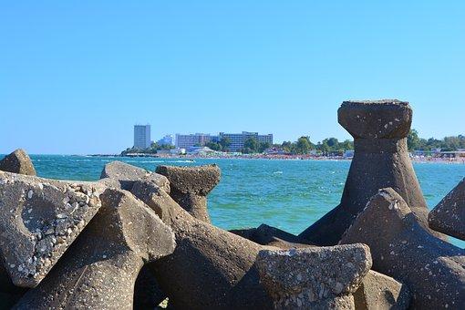 Seaside, Romania, Great, Black Sea, Stone, Sightseeing