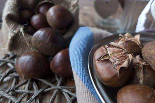 Autumn, Chestnuts, Castanea, Dining Table, Bag, Towel