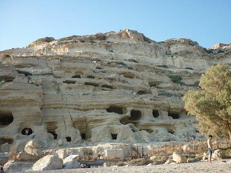 Agia Galini, Crete, Greece, Caves