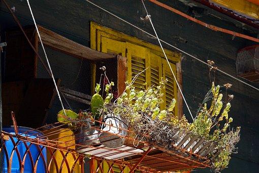 Balcony, House, Facade, Building, Wooden, Colorful