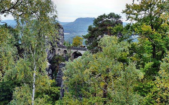 Bastei Bridge, Saxon Switzerland, Landscape