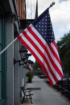 Usa, Flag, Georgia, Building, America, Patriotic