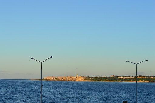 Cuba, Havana, Panorama, Ocean, Sea, Seascape, Water