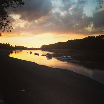 River Thames, Putney, London, Clouds, Outdoors