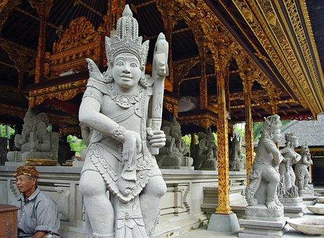 Indonesia, Bali, Temple, Tirta Empul, God, Statue