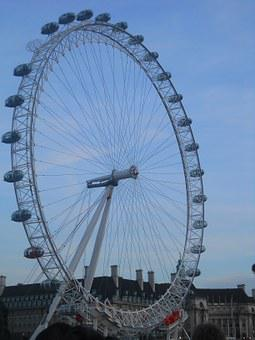Ferris Wheel, London Eye, United Kingdom, Sky, Capital