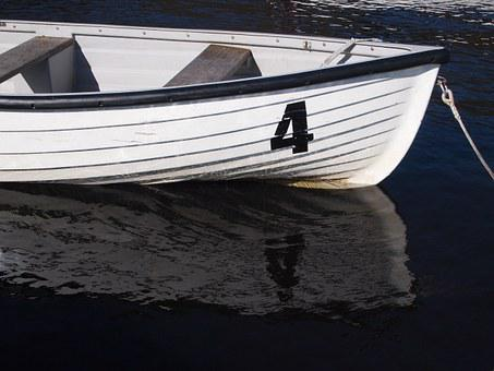 Rowing, Boat, Lake, Water, Number 4, Outdoors, Tourism