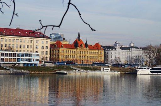 Slovakia, Danube, Bratislava, River, Views, City