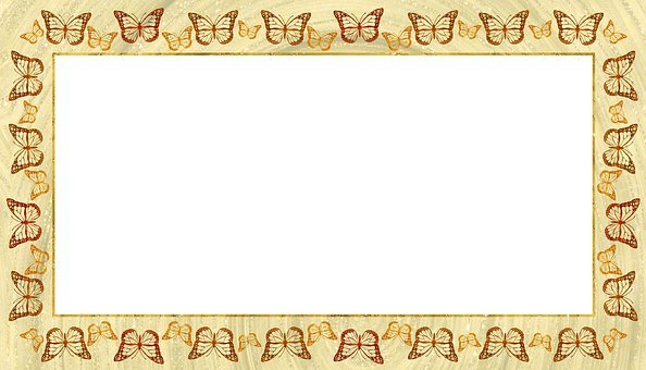 Frame, Picture, Butterfly, Gold, Copper, Bronze