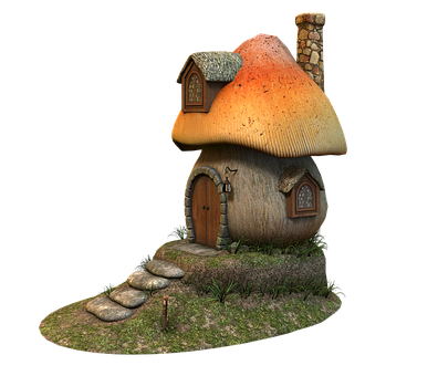 Mushroom, House, Fairy Tales, Cottage, Mushroom House