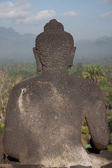 Indonesia, Bropudur, Java, Statue