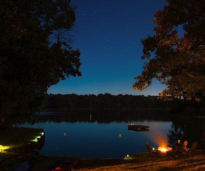 Lake Sara, Illinois, Water, Reflections, Landscape