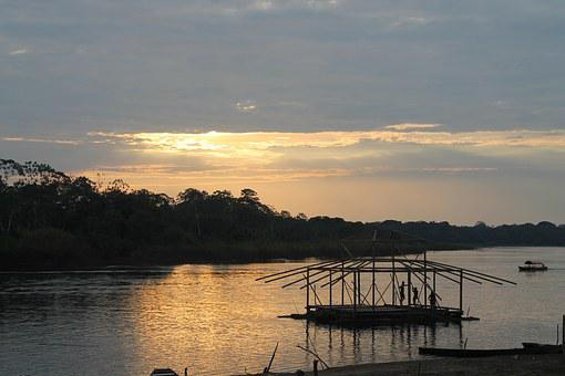 Sunset, Loretuyaco River, Nariño Port