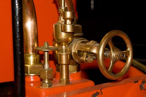 Valve, Open, Close, Metal, Brass, Steam, Pipe, Pipes