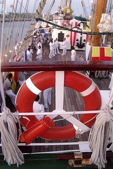 Sailors, Boat, Ship, Valencia, Port, Visit, Sea