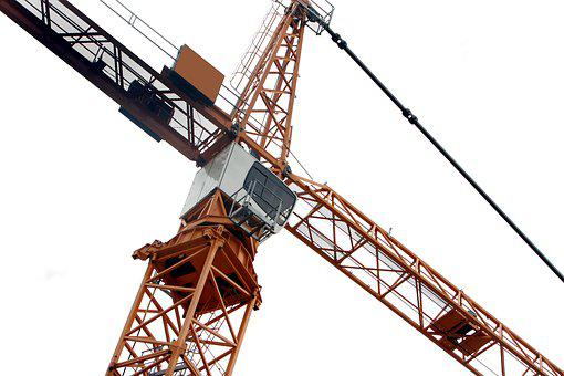 Baukran, Crane, Site, Construction Work, Technology