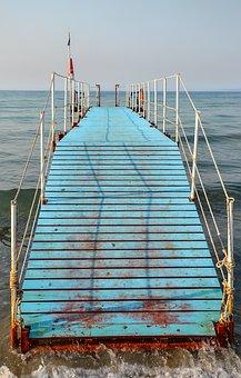 Jetty, Web, Boardwalk, Pier, Wood, Worn, Traces Of Use