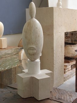 Constantin, Brancusi, Sculptor, The Black Blonde Lady