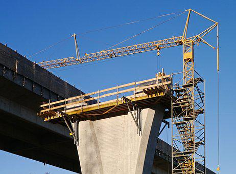 Site, Concrete Construction, Pillar, Bridge Piers