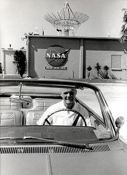 Car, Convertible, Vehicle, Nasa, Mercury Control Center