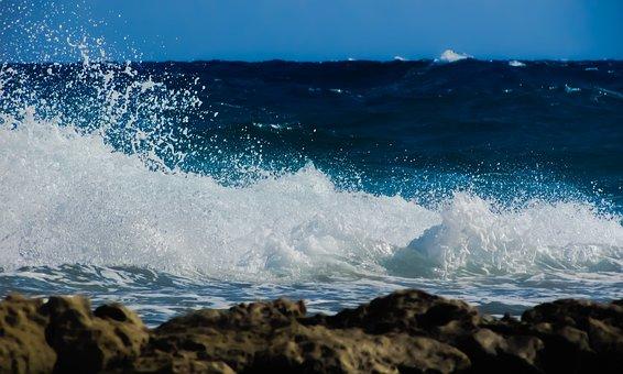 Wave, Smashing, Sea, Water, Beach, Nature, Coast