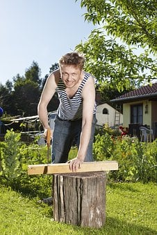 Diy, Saw, Man, Wood, Garden, Woodworks, Bar, Sharp