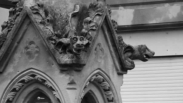 Gargoyles, Gothic, France, Stone Carvings