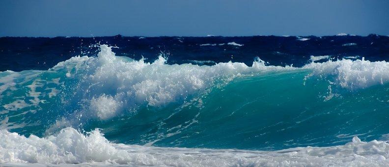Wave, Smashing, Sea, Water, Beach, Nature, Splash