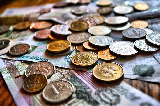 Ruble, Coin, Russian, Money, Bills