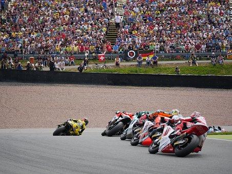 Motorcycle, Race, Moto Gp, Sachsenring, Moto 2, Germany